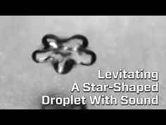 """Watch Sound Make A Liquid Droplet Levitate And Dissipate - A combination of Drop of Water (surface tension) and """"Voices"""" from Parables from Nature (our voices affecting the wind) for all you other Yr3-ers out there."""