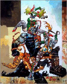 Heavy Metal Magazine / March 1999 / We Don't Need a Thirsty Hero / 1997 (Simon Bisley) Simon Bisley, Comic Book Artists, Comic Artist, Comic Books Art, Heavy Metal, Cyberpunk, Conan O Barbaro, Character Art, Character Design