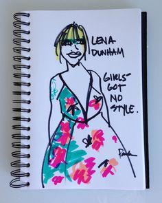 Lena Dunham, Prada, Emmys 2013.