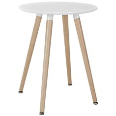Track Circular Dining Table EEI-1058-WHI by LexMod