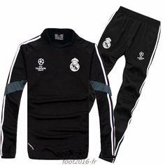 64be4419de1f1 Destockage Champions league survetement equipe de foot Real Madrid Noir 2014  2015 -03 pas cheres