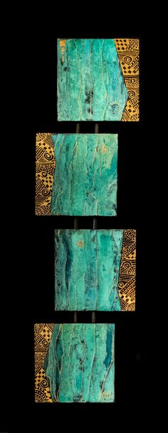 """FRESH OFF THE EASEL.... CLICK IMAGE TO VIEW FULL SIZE Quadruvium Painting, Southwest Art on Wood 27""""x7""""x1.5""""/Available For purcha..."""