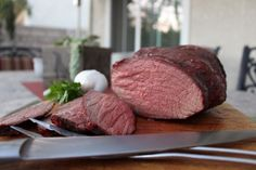 The perfect rump roast. It is by far my favorite meal. Served with rice and gravy, rare. Take your meat out well before you are going to cook it so it gets to room temperature. Cooking A Rump Roast, Rump Roast Recipes, Beef Rump Roast, Meat Recipes, Cooking Recipes, Recipies, Oven Roast, Yummy Recipes, Recipe For Rolled Rump Roast