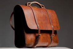 Leather Satchel with a nice shape