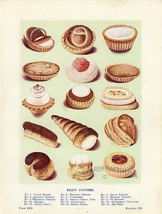 Irresistible cakes from the Edwardian era- Fancy Pastries - Desserts Vintage Sweets, Vintage Baking, Vintage Cakes, Vintage Food, Cake Decorating Books, Wave Gotik, Dessert Illustration, Pastry Art, Cupcakes
