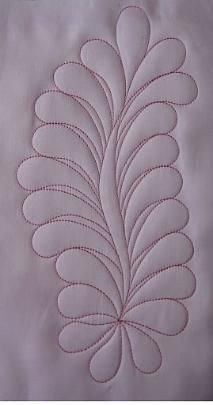 """Embroidery Machine Quilting:  """"Feather"""" Quilting Designs ~ love this and the others on site."""