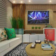 Aí mo deuso! Que amorzinho essa Sala de TV. Já quero na minha casa!