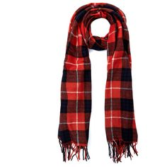 Yarnz Red Grunge Plaid Wool and Cashmere-Blend Scarf ($180) ❤ liked on Polyvore featuring accessories, scarves, red plaid scarves, yarnz, tartan plaid shawl, red shawl and woolen shawl