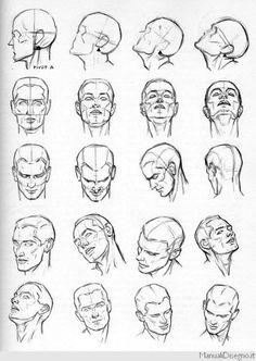 studio delle espressioni facciali disegni - Cerca con Google