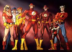 3x2(9yz)4A Jesse Quick, Max Mercury, Bart Allen, Barry Allen, Wally West, Iris west, and Jay Garrick Pencils by TJ Frias guinnessyde.deviantart.com/art… Go check out his stuff! Co...