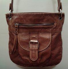 Sparrow True Shoulder Bag Purse NEW Soft Faux Leather Brown 6 Pocket Long  Straps d69a66ac40a0a