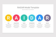 RAIDAR Model PowerPoint Template is a professional Collection shapes design and pre-designed template that you can download and use in your PowerPoint. The template contains 11 slides you can easily change colors, themes, text, and shape sizes with formatting and design options available in PowerPoint. Eat And Go, Shape Design, Keynote Template, Color Change, Shapes, Templates, Colors, Model, Collection