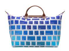 Le Pliage \u0026quot;Keyboard\u0026quot; - Collaboration with Jeremy Scott. Back view. Longchamp Collection