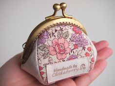 Framed Coin Purse Flower Garden Pink by Chikaberry on Etsy, $18.00