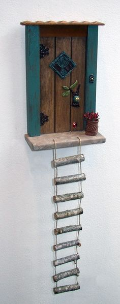 Fairy Garden Doorway UP with hanging ladder