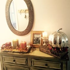 Front Hallway table for fall