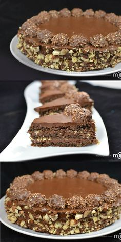 Ferrero Rocher Cake Recipe- my guest are always happy with this cake. http://momsdish.com/r251