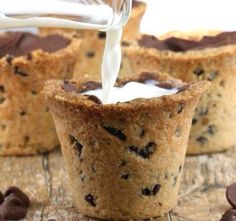 Chocolate chip cookie cup with any flavor liquor. Holiday dessert shot after dinner!