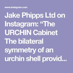 """Jake Phipps Ltd on Instagram: """"The URCHIN Cabinet The bilateral symmetry of an urchin shell provided a dynamic design influence, as well as a technical one, for this…"""" Joinery Details, Dynamic Design, Shell, Cabinet, Instagram, Clothes Stand, Closet, Shells, Closets"""