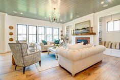 A fresh take on the modern farmhouse trend, this dream home in Richmond, Virginia by River City Custom Homes is part of the 2017 Richmond Homearama currently going on now! The beautiful interiors w… White Shiplap Wall, Sweet Home Collection, House Of Turquoise, Modern Farmhouse Bathroom, Beautiful Interiors, Great Rooms, Custom Homes, Home Furniture, House Plans