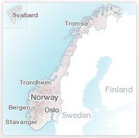 Kart over Norge