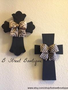 Set of 2 Wall Crosses by bstreetboutique on Etsy