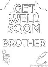 free coloring pages get well soon - Google Search | Coloring Pages ...