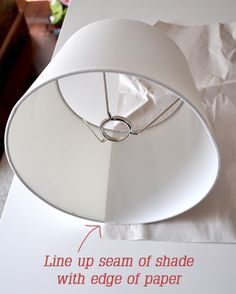 Covering a lampshade with fabric no sew..