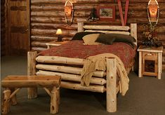 Rustic Bedroom Furniture | Log Bed Kits | Rustic Furniture Mall by Timber Creek