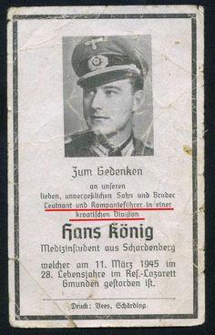 orig WK2 STERBEBILD - DEATH CARD - OFFIZIER  -Kp.CHEF Kroatische Legion KIA 1945