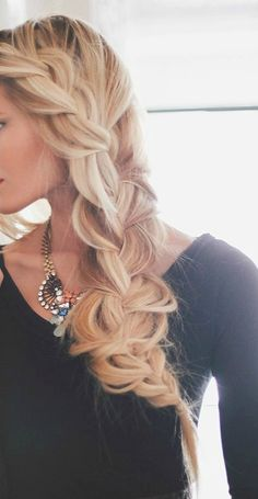 Braid for Christina's wedding. Love this hairstyle!