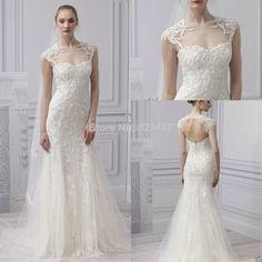 2014 Fashion Sweetheart Neck Modern Mermaid Applique Wedding Dress Wedding Bridal $187.00