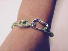 Bracelet With Functional Locking Carabiner by CocoClimbingJewelry I want this!!