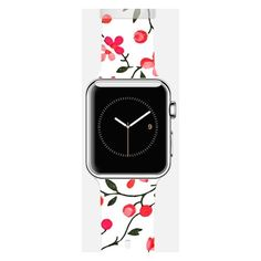 Apple Watch Band - Floral Pattern (4.725 RUB) ❤ liked on Polyvore featuring jewelry, watches, floral print watches, apple watches, apple watch, floral watches and floral jewelry