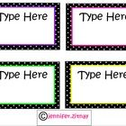 Editable Polka Dot Labels  Great for your classroom to label manipulatives, book genres, word walls, etc!  Please rate my product :) ...