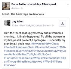 Dying at the hashtags