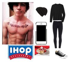 """""""[OOTD] IHOP with Kitten. -Sebastian"""" by juli3eandr3aa ❤ liked on Polyvore featuring Theory, Paige Denim, Converse, Phase 3 and Dolce&Gabbana"""