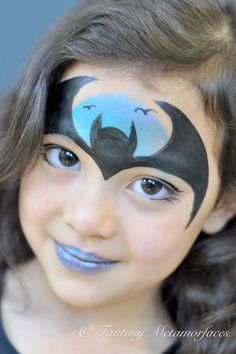 Batman face painting - #batman #face #painting