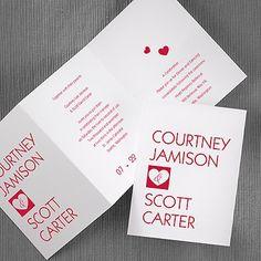 wedding invitations for Valentine's Day weddings & beyond #wedding #invitations #vday #valentinesday #hearts