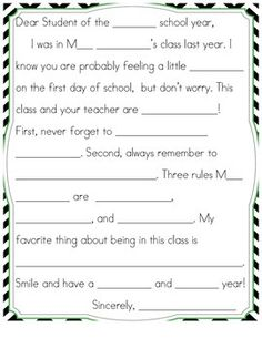 Freebie Have Your Students End Their Year By Writing A Letter To