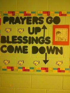 Sunday School Bulletin Board