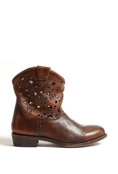 Cowboy laser cut ankle boots