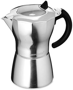 aerolatte Moka Stovetop Espresso Pot Coffee Maker 6 Cup Capacity >>> Check out this great product by click affiliate link Amazon.com