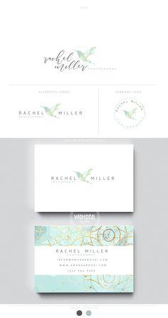 hummingbird logo 1 gold foil photography businesscards simple modern feminine branding- logo Identity for Children and family photographer