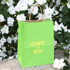 Personalized Medium Tote Bag - 25 pcs - Favor Bags - Favor Packaging - Wedding Favors & Party Supplies - Favors and Flowers