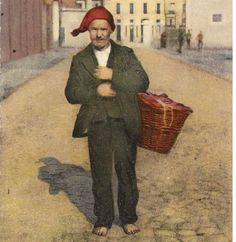 Vendedor de castanhas No início do século XX, alguns homens vendiam castanhas na cidade.  Era uma atividade dura e mal paga. Para estes h...
