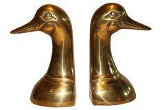 Brass Duck  Bookends on OneKingsLane.com
