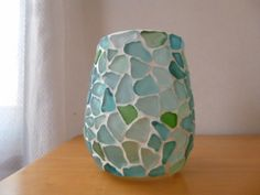 シーグラスタイルのマルチホルダーM Diy Home Crafts, Arts And Crafts, Sea Glass Art, Seashell Crafts, Bottle Painting, Pebble Art, Art For Kids, Craft Supplies, Projects To Try