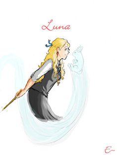 Luna's Patronus, by Behindtheveil
