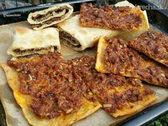 Etli ekmek / Mäsový chlieb (fotorecept) - Recept Pepperoni, Pizza, Ale, Food, Basket, Kochen, Meal, Ale Beer, Essen
